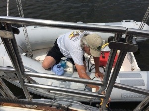 Aha!  So that's how you get those letters on the back of the boat!!