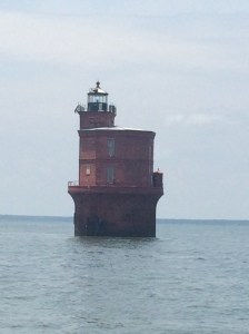 Wolf Trap Light is off the west shore of the Chesapeake Bay, Virginia, northwest of the mouth of the York River